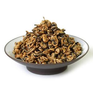 GOARTEA 100g Nonpareil Supreme Organic Yunnan Snail Dianhong Chinese Black Tea