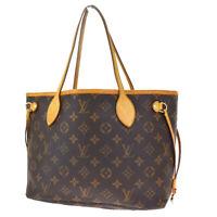 Auth LOUIS VUITTON Neverfull PM Tote Shoulder Bag Monogram Brown M40155 10SB284