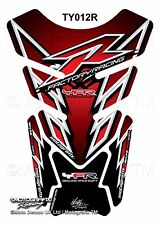 Yamaha YZF R1 / R6 Red Black Motorcycle Tank Pad Motografix 3D Gel Protector