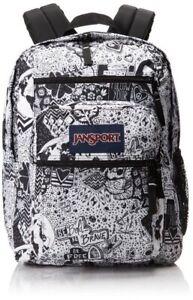 JanSport Black and White Doodle Backpack