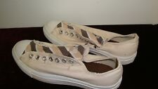 6df256a473d2 Converse All Star Mens Size 9.5 Shoes Beige with Tan brown stripe tongue