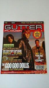 "THE GOO GOO DOLLS ""GUTTERFLOWER"" 2002 RARE ORIGINAL PRINT PROMO POSTER AD"