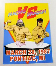 00059ed6cd9 Randy Savage Ricky Steamboat 17x22 Wrestling Wrestlemania Poster EXCLUSIVE  WWF
