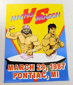 Randy Savage Ricky Steamboat 17x22 Wrestling Wrestlemania Poster EXCLUSIVE WWF