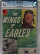 FOUR COLOR # 790  THE WINGS OF WAR JOHN WAYNE PHOTO TOTH CGC 4.0 W/OW 1957