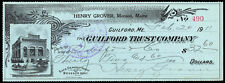 c175 Febuary 1911 check,The Guilford Trust Co., Guilford Maine Building vignette