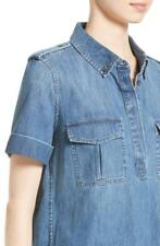 NEW $178 Equipment Femme RORY Denim Chambray BLUEPRINT Shirt XS NWT