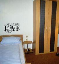 Live Laugh Love Fantasía Lema Dormitorio Cuarto De Estar ADHESIVO pared imagen