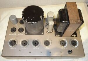 RCA MI 9377A 6L6 tube amplifier with UTC and Langevin transformers