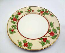 "Fitz and Floyd Christmas Holly 7.5"" Salad Plate"