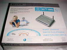Belkin 2006 Wireless Router F5D9230-4 G Plus MIMO 54 Mbps 4 Port 10/100 New