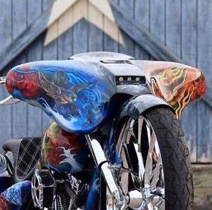 """Stealth Street Glide Fairing for 6.5"""" speakers Harley Davidson Bagger Raked 30"""