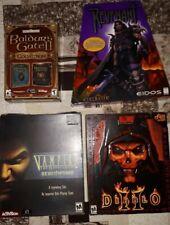 Big Box Pc RPG Lot Revenant, Diablo II, Baldur's Gate, Vampire Masquerade