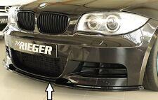 Rieger Frontspoilerschwert in schwarz glänzend für BMW 1er E82/E88 mit M-Technik