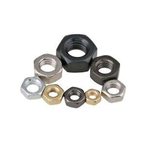 M2M2.5M3M4M5M6M8M10M12~M24M27M30 Hex nuts Carbon steel Nickel plated/Galvanized