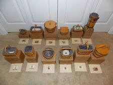 * Longaberger * Collector's Club 12 J.W. Miniature Basket Collection w/ Jw Boxes