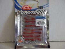 """Berkley Powerbait Ice 1.25"""" Whipworm red 15 count package Nip"""