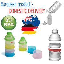 MILK POWDER DISPENSER BABY Feeding 4 Layer Dispenser Toddler BPA FREE Container