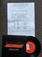 "DEDRINGER - DIRECT LINE - 7"" VINYL - PROMO - TEXTURED SLEEVE + PRESS RELEASE"