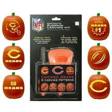 NFL Chicago Bears Halloween Pumpkin Stencil Carving Kit NEW