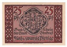 Serienschein Ohrdruf 25 Pf. 01.03.1921 mit Wasserzeichen im oberen rechten Teil