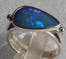 Brasil Crystal Opal 2.5 Karat 950er Silberring Größe 18,4 mm