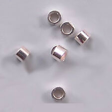 1mm Sterling Silver Crimps or Small Spacers 43039 (50)