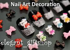 30pcs DIY 3D Resin Mini Cute Bow Knot Nail Art Cell Phone Case Decoration #ED02