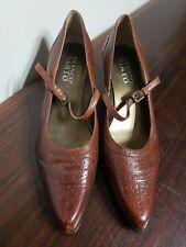 New! Franco Sarto Dustine Brown Strap Heels Size 6