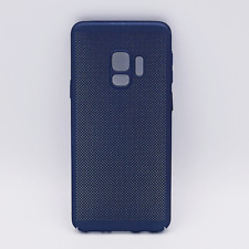 Voor Samsung Galaxy S9 - hoesje - metaal gaas look - blauw