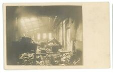 RPPC Interior Building Destroyed by Fire PENN YAN? NY Real Photo Postcard