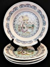 4 Precious Moments Salad / Dessert Plates Make A Joyful Noise 1992