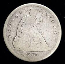 1860-o Seated Liberty Silver Dollar $1 in Good+ (G) Condition