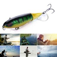 5pcs Fishing Lures for Bass Whopper Plopper with Floating Rotating Tail 13.5 Neu