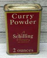 Vintage Schilling Curry Powder Tin Spice Can