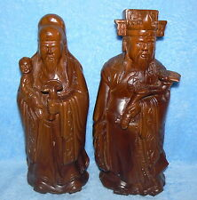 "CHINESE BOXWOOD IMMORTALS 14"" STATUE FIGURES"