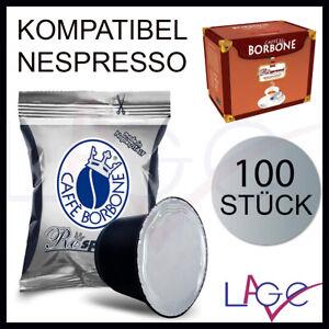 100 Kapseln Kompatibel für NESPRESSO Caffè Borbone Respresso Mischung Schwarz
