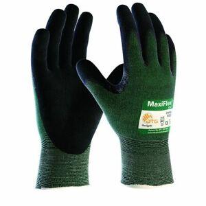 MaxiFlex 34-8743 Cut 3 Nitrile Coated Palm Gloves Size 12 XXXL BIG HANDS