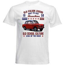 Vintage Italiano AUTOBIANCHI BIANCHINA 1959-Nuevo Algodón Camiseta