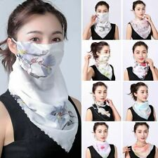 1 Pc Women Summer Floral Print Anti-UV Dust-proof Scarf Outdoor Sport Riding Fac