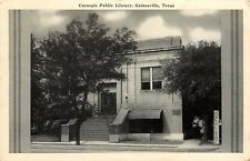 Vintage Postcard Carnegie Public Library, Gainesville TX Cooke County posted
