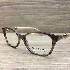 bca6ec8280 Bvlgari 4109-B 4109 B Eyeglasses Brown Turtledove Gold 5240 Authentic 52mm