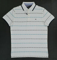 NWT Men's Tommy Hilfiger Short-Sleeve Slim Fit  Polo Shirt white Large L