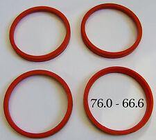 76 - 66.6 Anelli di centraggio SET 4 x CERCHI IN LEGA PREVENIRE RUOTA vibrazioni