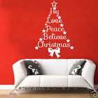 Christmas Tree with Quote Removable Wall Decal  sticker for home or business