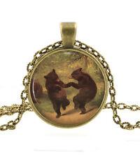 Dancing Bear Collar Colgante Humor Joyas-William Holbrook Animal Arte Regalo
