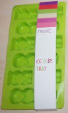 Brand New Next Flexible Green Ice Cube Tray - 9 Words ICE COLD