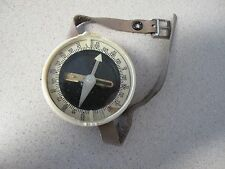 Russian Soviet Compass for tourist wrist leather band vintage
