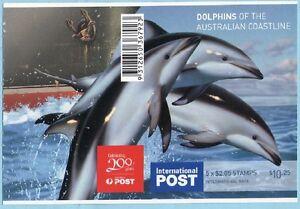 2009 DOLPHINS OF THE AUST COASTLINE INTERNATIONAL STAMP BOOKLET 5 x $2.05 MUH