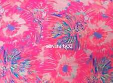 Never Been Betta Lilly Pulitzer Cotton Poplin Fabric BTY x 57""